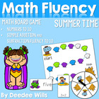 Summertime Math Work Stations FREE Addition and Subtraction