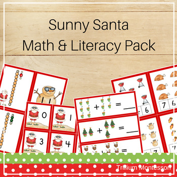 Sunny Santa Math and Literacy Pack