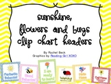 Sunshine, Flowers and Bugs Clip Chart
