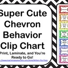 Super Cute Chevron Behavior Clip Chart