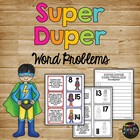 Super Duper Word Problems Matching Game Kindergarten First Grade