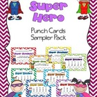 Super Hero Punch Card Sampler