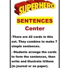 Super Hero Sentences Center