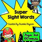 Super Hero Sight Words - Fry's Third 100