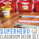 Super Hero Theme Classroom Decor Pack
