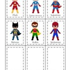 Super Heroes themed Three Part Matching preschool learning