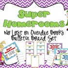 Super Homerooms Returning Books On Time Bulletin Board Set