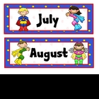 Super Kids Theme Calendar Months