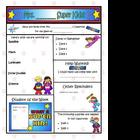 Super Kids Theme Newsletter Template