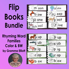 Rhyming Word Family Flip Books Bundle -124 Word families in color