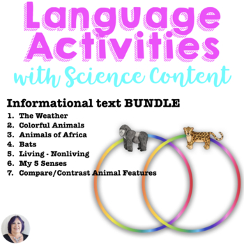 Informational Text_Science Bundle for Special Education_animals_senses_weather