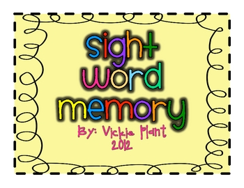 Super Sight Word Memory