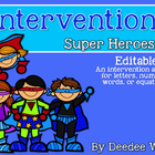 Super Speed: Editable Intervention Activity for ELA or Math