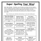 Super Spelling Your Way for primary grades (includes spani
