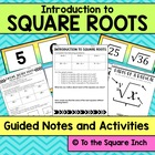 Super Square Roots Guided Notes and Activities for Interac