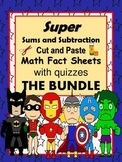 "Addition and Subtraction Facts  ""The Bundle""-cut and paste"