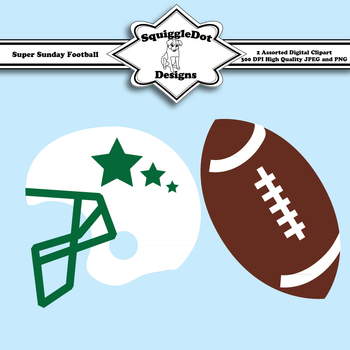 Super Sunday Football Clip Art