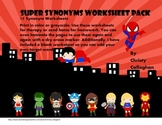 Super Synonyms Worksheets