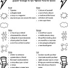 Super Things to Do When You're Done printable