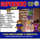 Superhero Behavior Clip Chart System- (Version 1) FREE! FR