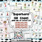 QR Code Superhero Math Bundle: Task Card Centers (Common C