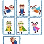 Superhero Name Tags - Small Rectangle