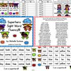 Superhero Sight Word Fluency