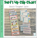 Surf Themed Behavior Clip Chart