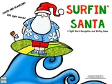 Surfin Santa!  A Sight Word Recognition Game!