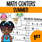 Surfin' into Summer- Math Center Fun