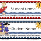 Surfing Kids Editable Name Tags