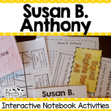 Susan B. Anthony Interactive Notebook Activities (History