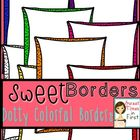Sweet Borders: Dotty Colorful Borders {Graphics For Commer