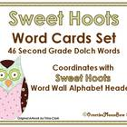 Sweet Hoots Dolch Second Grade Word Set