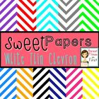 Sweet Papers: White Thin Chevron {Digital Papers For Comme