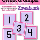 Sweet & Simple Calendar Numbers {Lovestruck}