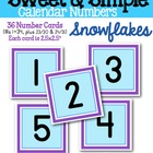 Sweet & Simple Calendar Numbers {Snowflakes}