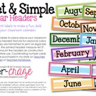 Sweet and Simple Calendar Headers