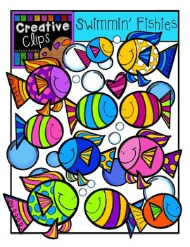 Swimmin Fishies {Creative Clips Digital Clipart}