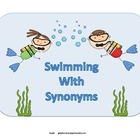 Swimming With Synonyms File Folder Game
