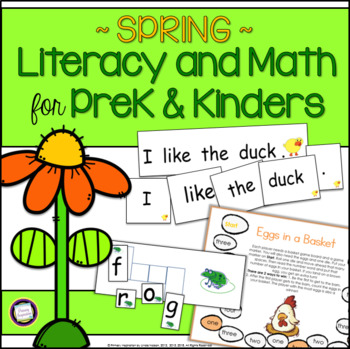 Swing Into Spring: Literacy & Math Activities for PreK and K