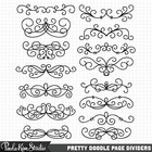 Swirly Page/Text Dividers Clip Art