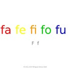 SyllaBits Spanish Fa, fe, fi, fo, fu Syllable Slideshow Si
