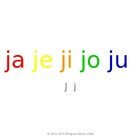 SyllaBits Spanish Ja, je, ji, jo, ju Syllable Slideshow Si