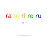 SyllaBits Spanish Ra, re, ri, ro, ru Syllable Slideshow Si