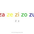 SyllaBits Spanish Za, ze, zi, zo, zu Syllable Slideshow Si