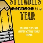 Syllable Clip Cards For The Year