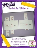 Syllable Reading: Syllable Sliders (Spanish)