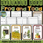 Syllable Sort Frog and Toad Together Center Game