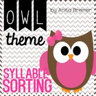Syllable Sorting Mats {owl-themed}